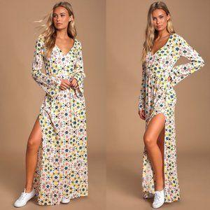 NWT Lulus Mandala Daydream Pink Print Maxi Dress